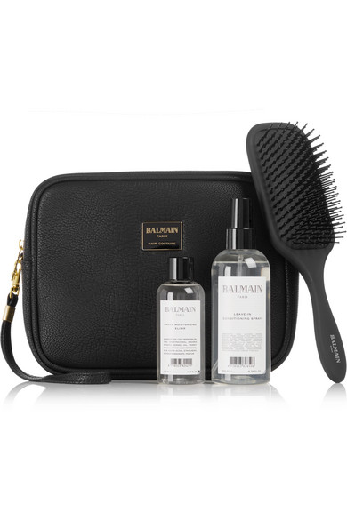 LIMITED EDITION TEXTURED-LEATHER COSMETICS CASE GIFT SET - ONE SIZE