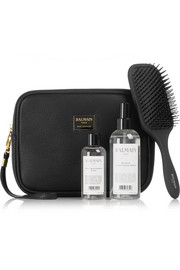 Limited Edition Textured-Leather Cosmetics Case Gift Set