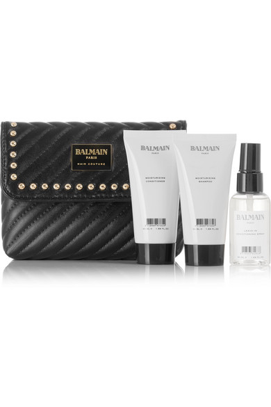 LIMITED EDITION QUILTED LEATHER COSMETICS CASE GIFT SET - COLORLESS