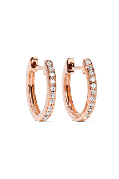 Anita Ko - Huggy 18-karat Rose Gold Diamond Earrings