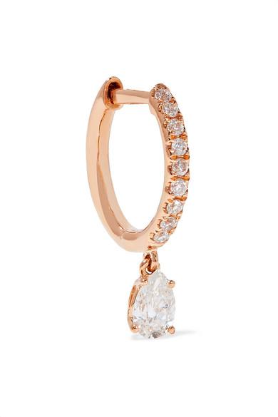 Anita Ko - Huggies 18-karat Rose Gold Diamond Earring