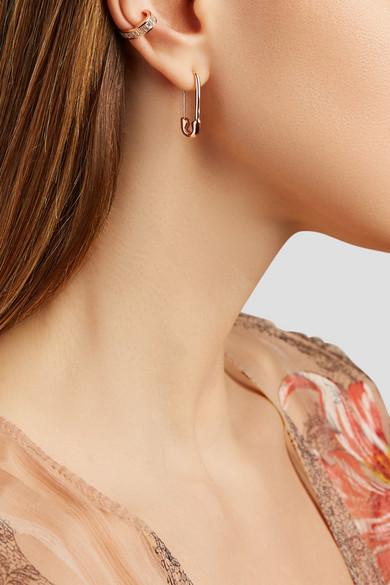 Safety Pin 18 Karat Rose Gold Earring