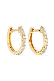 Boucles d'oreilles en or 18 carats et diamants Huggies