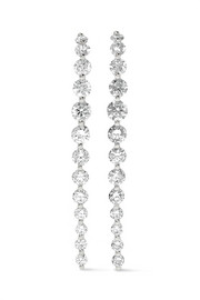 Long Cascade 18-karat white gold diamond earrings