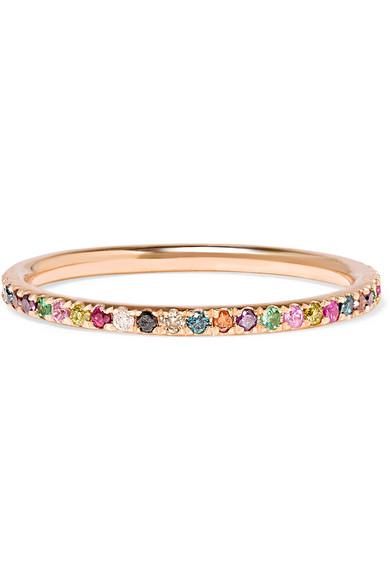 Fil 18 Carats Rose Bague D'alliance En Diamants Or - 52 Ileana Makri R9XJOIdL7x