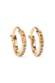 Ileana Makri Mini Rainbow 18-karat gold multi-stone earrings