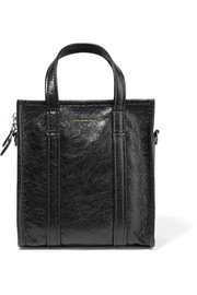 Bazar XS cracked-leather tote