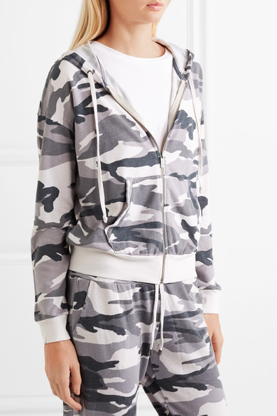 Aus Stretch print Camouflage jersey Kapuzenjacke Splendid Mit nR5x4q0FEw