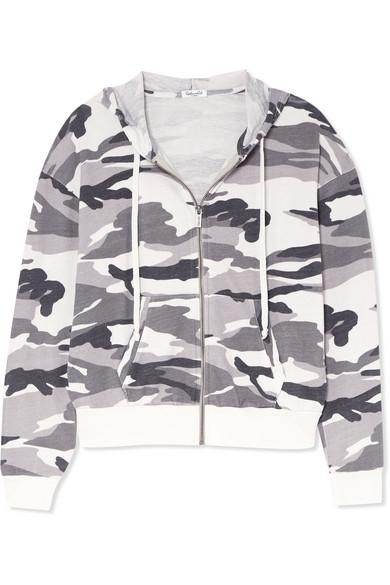 Splendid Kapuzenjacke aus Stretch-Jersey mit Camouflage-Print