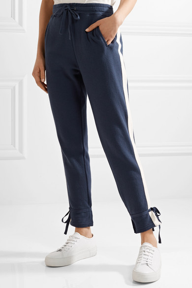 Splendid Seabrook Sweatpants In Cotton-jersey With Stripes
