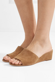 Tilly suede wedge sandals