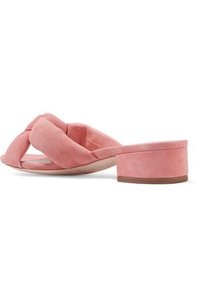 Buy Cheap For Cheap Low Cost Elsie Knotted Suede Sandals - Pink Loeffler Randall Outlet Genuine 66xwhi7