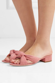 Elsie knotted suede sandals