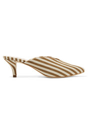 Juno striped canvas mules