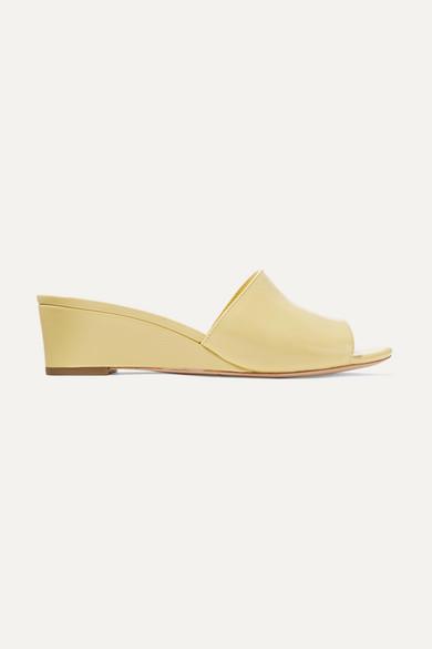 Loeffler Randall Tilly Leather Wedge Sandals 28kg7Wc0