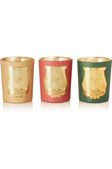 Cire Trudon - Odeurs D'hiver Set Of Three Scented Candles, 3 X 100g - Gold