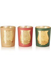 Cire Trudon Odeurs D'Hiver set of three scented candles, 3 x 100g