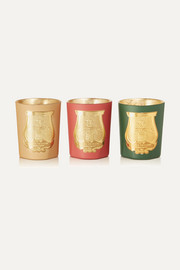 Odeurs D'Hiver set of three scented candles, 3 x 100g