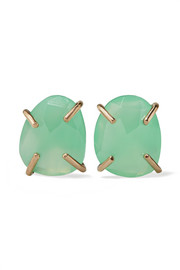Melissa Joy Manning 14-karat gold chrysoprase earrings