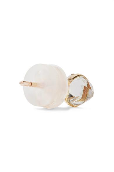 Melissa Joy Manning 14-karat Gold, Herkimer Diamond And Pearl Earrings