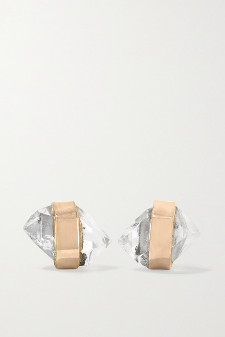 Gold 14-karat gold Herkimer diamond earrings | Melissa Joy Manning fsluvB