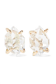 14-karat gold Herkimer diamond earrings