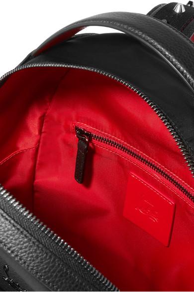 dd53e69fdfe Christian Louboutin   Leather-trimmed studded shell backpack   NET-A ...
