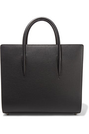 Christian Louboutin Paloma large textured and patent-leather tote