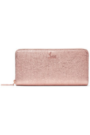 Christian Louboutin Panettone metallic textured-leather continental wallet