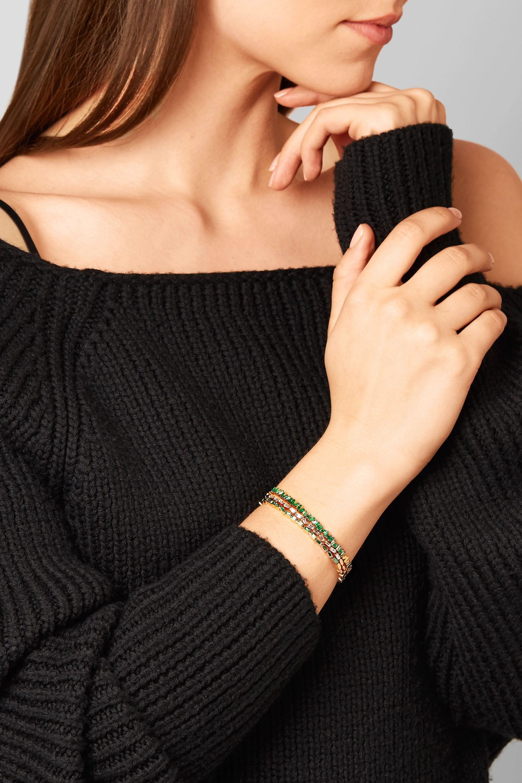 Suzanne Kalan 18-karat gold emerald cuff