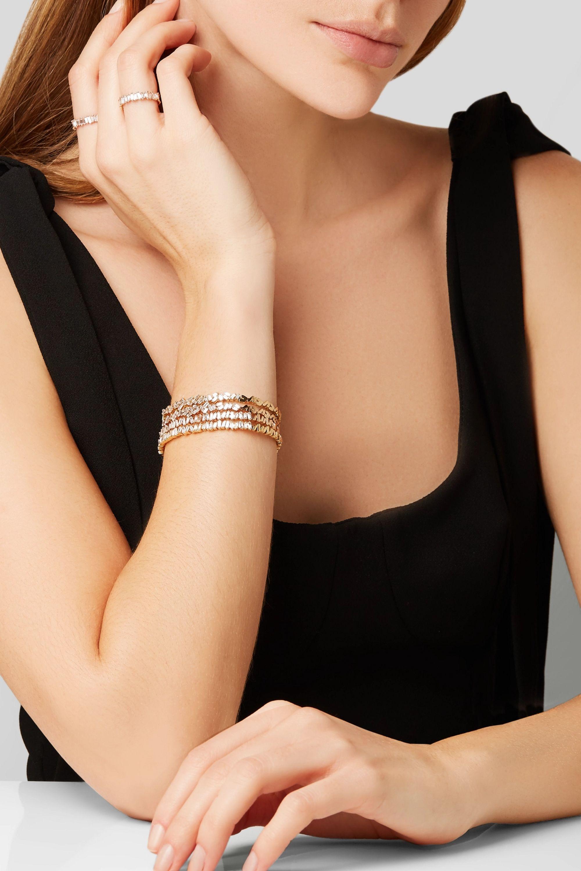 Suzanne Kalan Bague en or rose 18carats et diamants