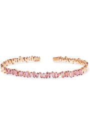 18-karat rose gold sapphire bangle