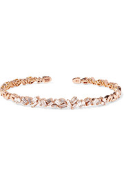 18-karat rose gold diamond cuff