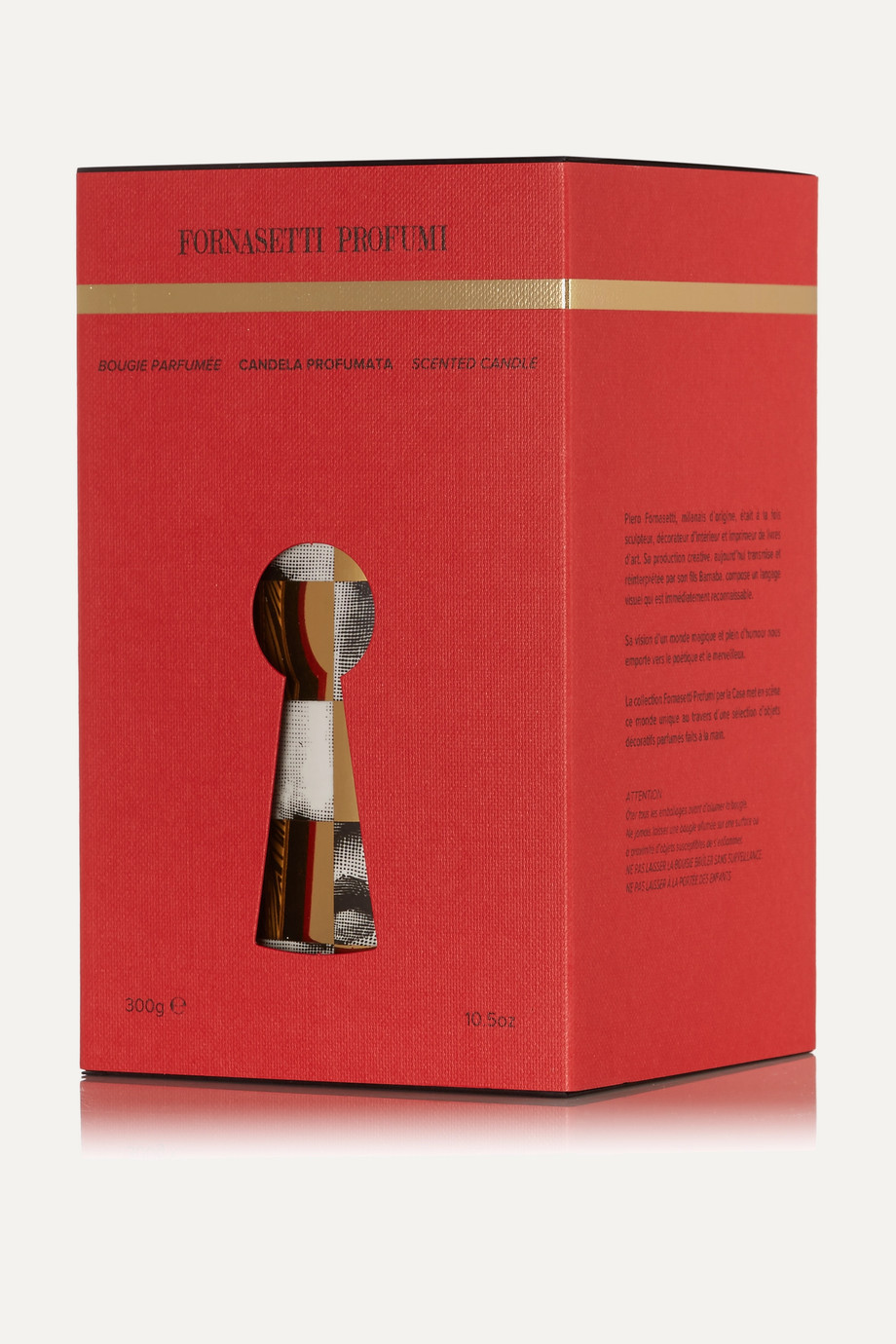 Fornasetti Scacco Otto scented candle, 300g