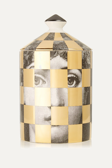 Fornasetti - Scacco Otto Scented Candle, 300g - Gold