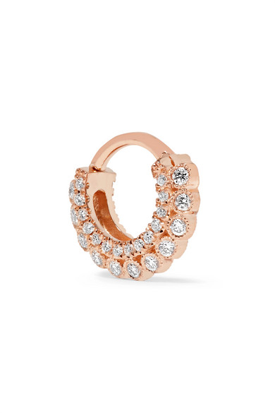 Maria Tash - 14-karat Rose Gold Diamond Earring
