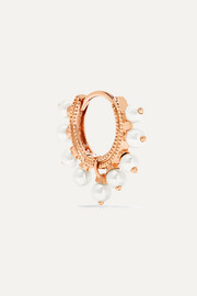 18-karat rose gold pearl earring
