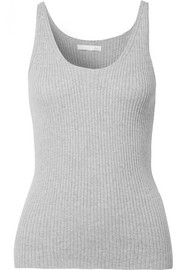 Valerie ribbed cotton-blend tank