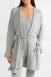 Valora tasseled cotton-blend robe