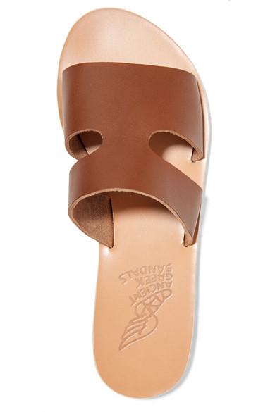 Ancient Pantoletten Greek Sandals | Apteros Pantoletten Ancient aus Leder mit Cut-outs 771a13