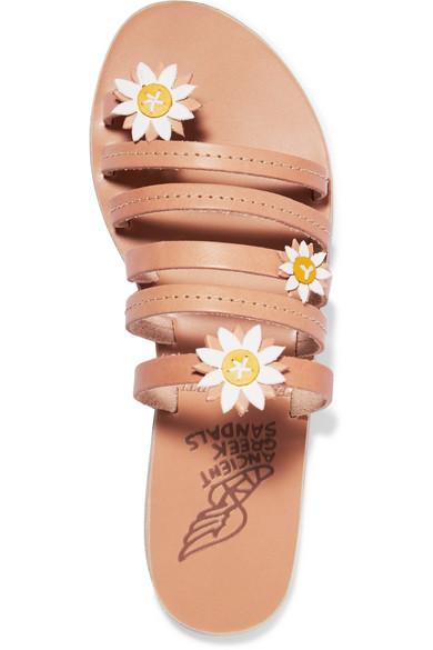 Ancient Greek Sandals Victoria Ledersandalen mit Applikationen Spielraum Browse Zum Verkauf Online-Verkauf Billig Original Einkaufen fI1otXUjx