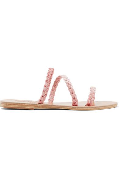 Ancient Greek Sandals Alkimini Sandalen aus geflochtenem Samt