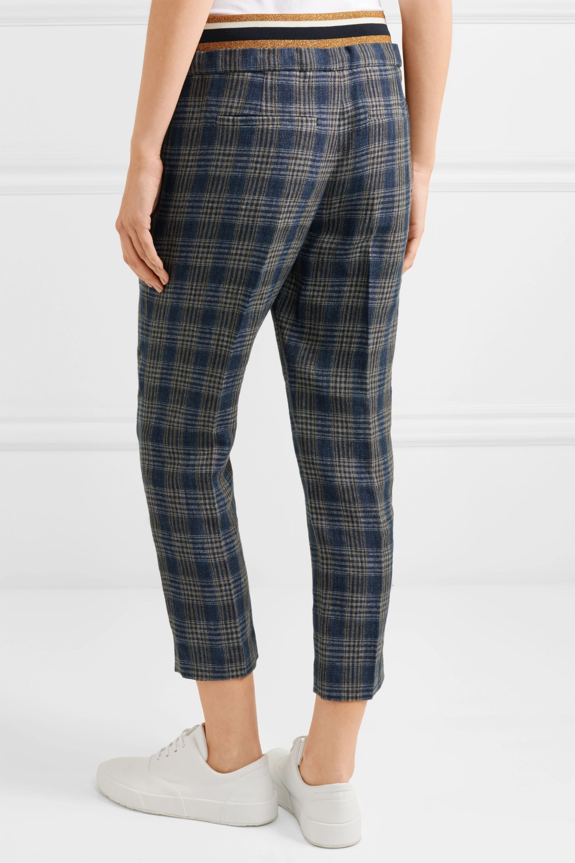 Brunello Cucinelli Checked linen track pants