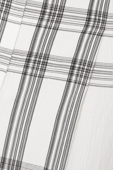 Brunello Cucinelli Hose aus einer karierten Baumwollmischung in Knitteroptik