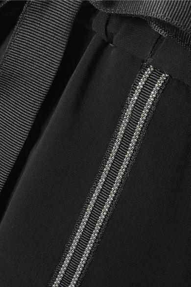 Brunello Cucinelli Jogginghose aus Crêpe mit Perlenverzierungen und Streifen