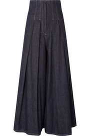 Brunello Cucinelli Pleated high-rise wide-leg jeans
