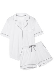 Signature cotton-blend jersey pajama set