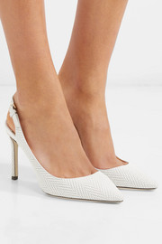Erin 85 embossed leather slingback pumps