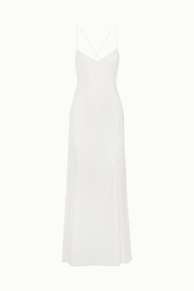 RIME ARODAKY Mara Crepe De Chine Gown in White