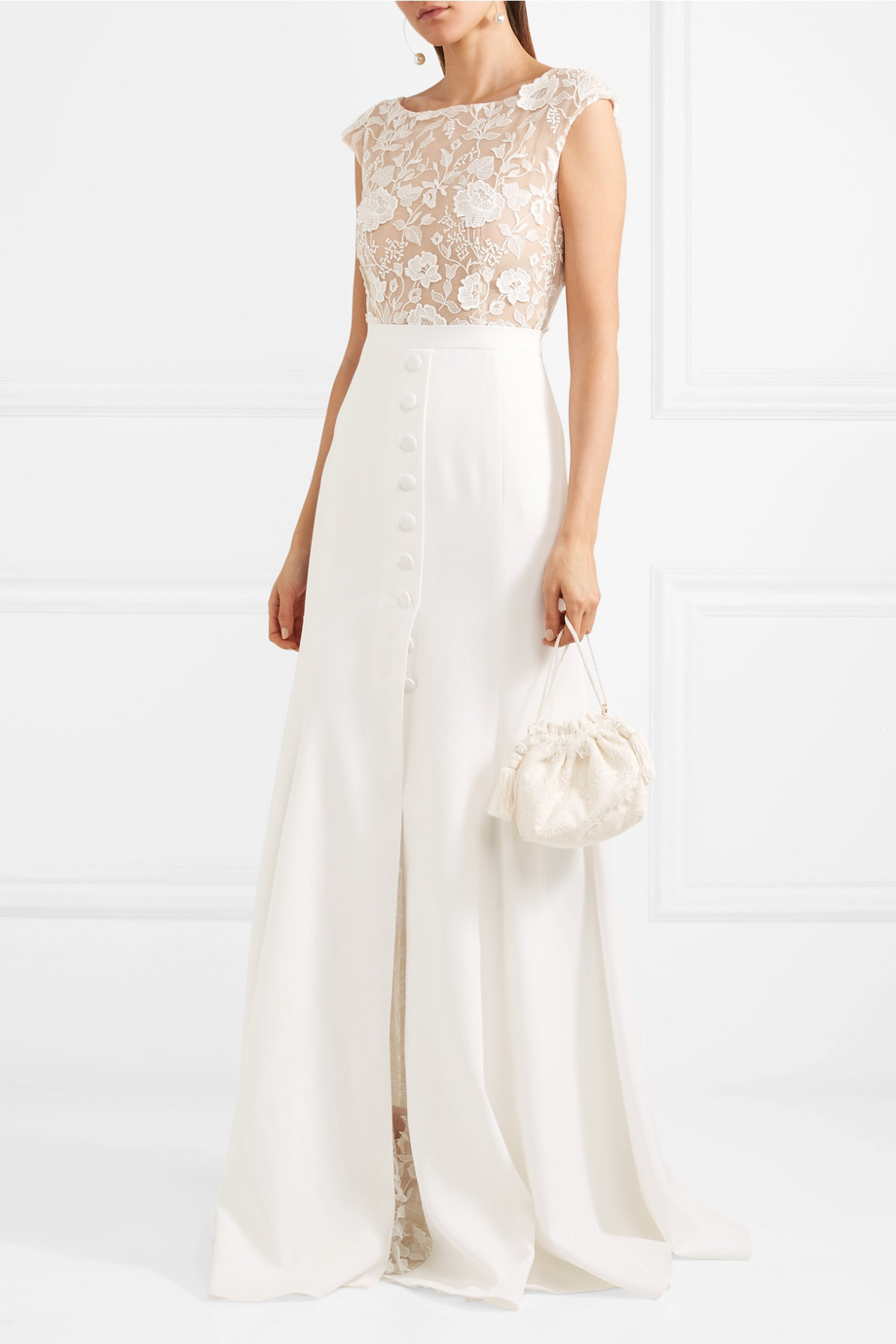 Rime Arodaky Sewell lace and crepe gown
